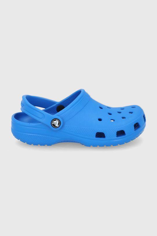 stalowy niebieski Crocs - Klapki Damski