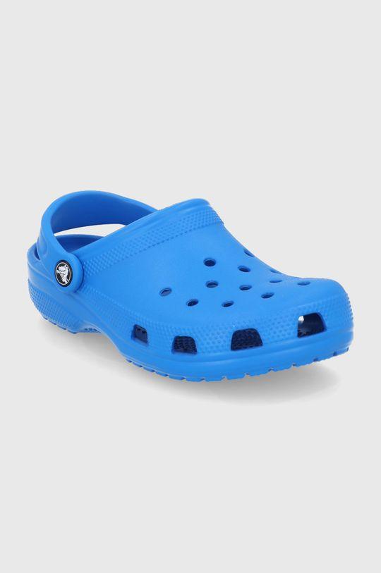 Crocs - Klapki stalowy niebieski
