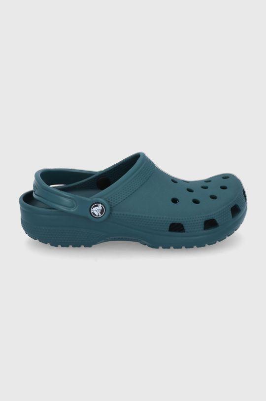 stalowy zielony Crocs - Klapki Damski
