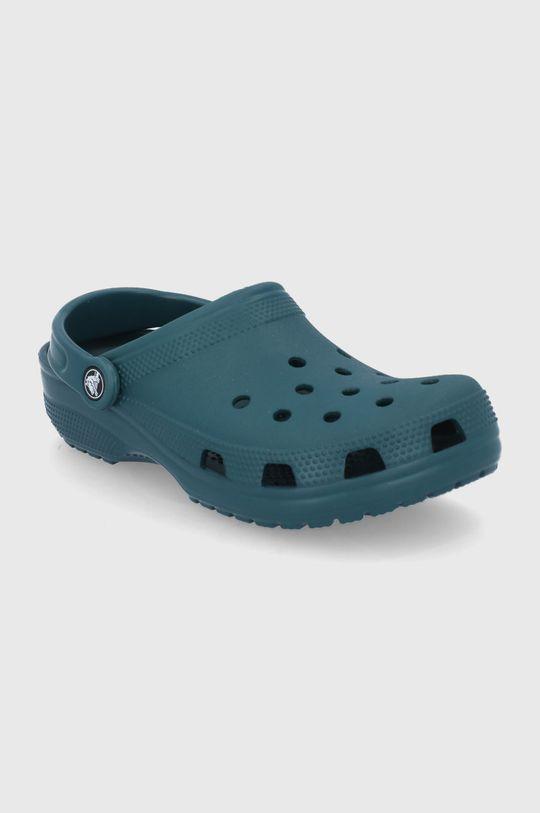 Crocs - Klapki stalowy zielony