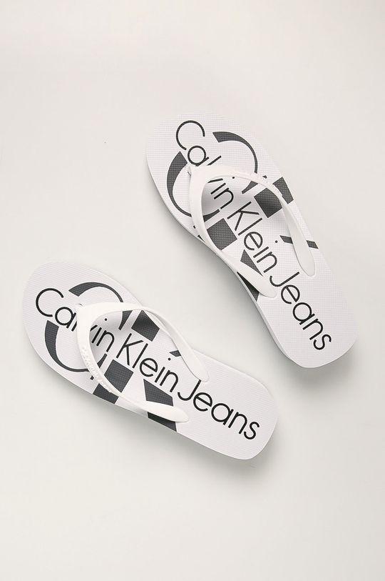 Calvin Klein - Žabky biela