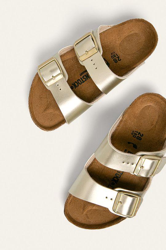 Birkenstock - Dětské pantofle Arizona zlatá