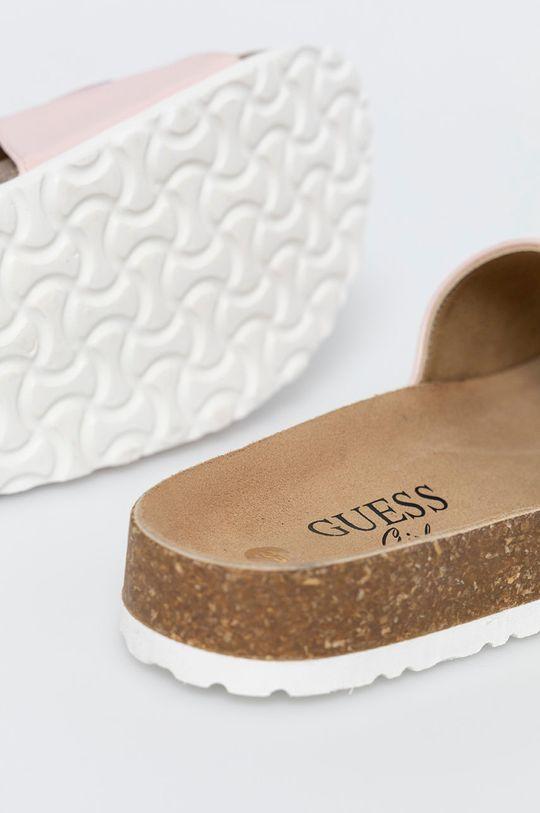 pastelová Guess Jeans - Dětské pantofle