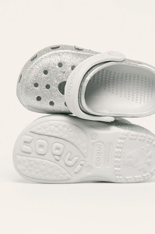 stříbrná Coqui - Dětské pantofle