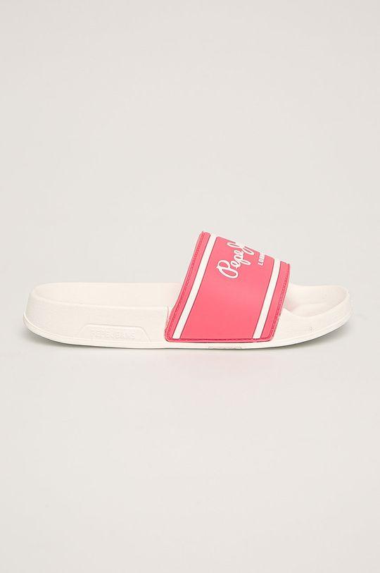 roz Pepe Jeans - Slapi copii Slider Logo De fete