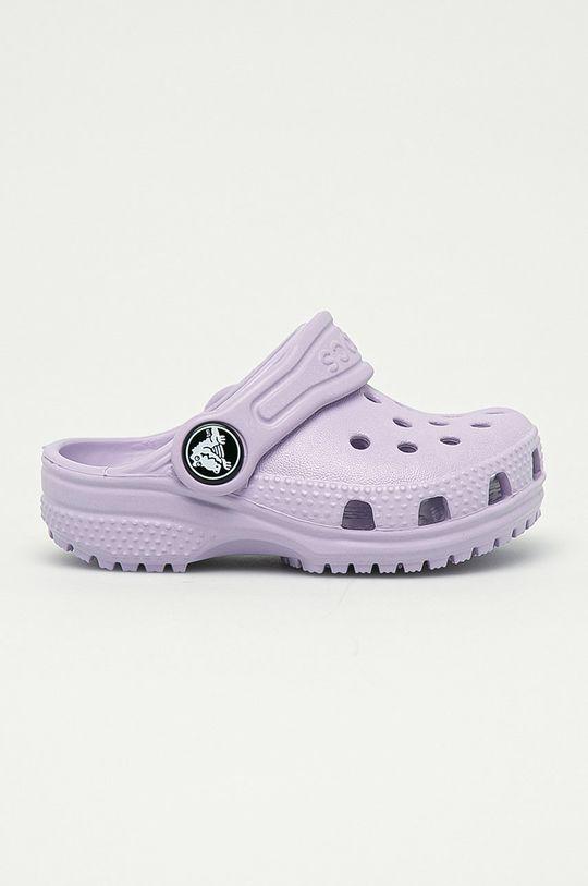 levandulová Crocs - Dětské pantofle Dívčí