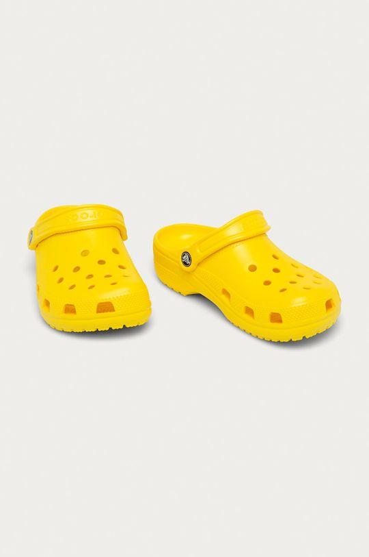 Crocs - Dětské pantofle žlutá