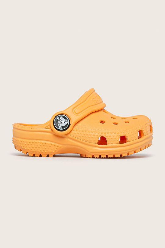 oranžová Crocs - Dětské pantofle Dívčí