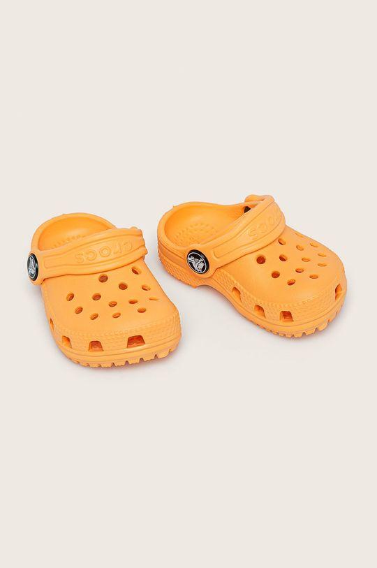 Crocs - Dětské pantofle oranžová