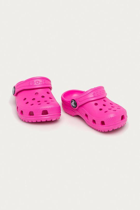 Crocs - Dětské pantofle orchidejová