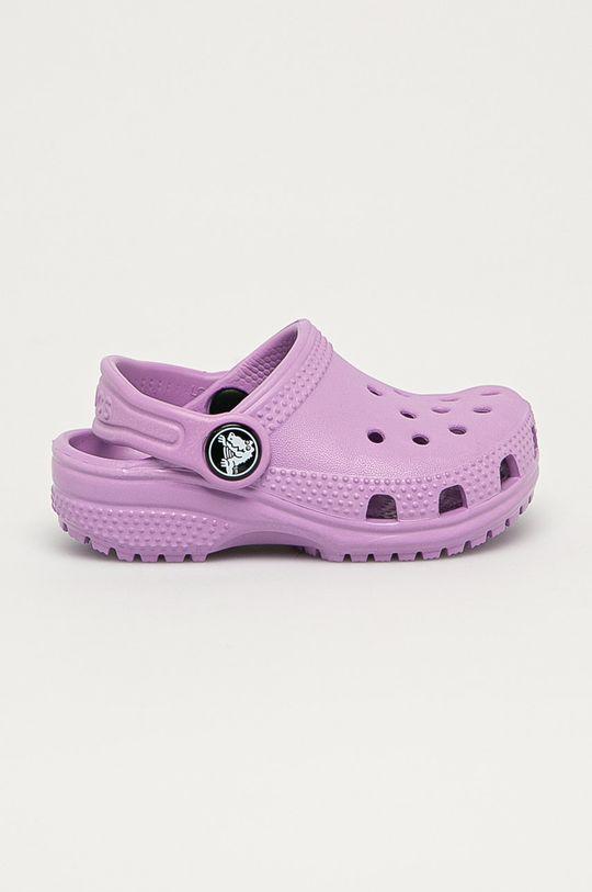 fialová Crocs - Dětské pantofle Dívčí