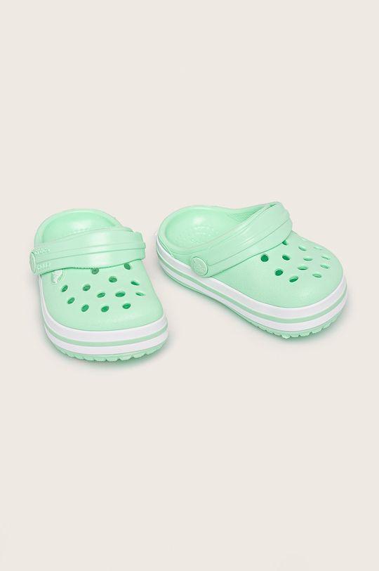 Crocs - Klapki dziecięce jasny zielony