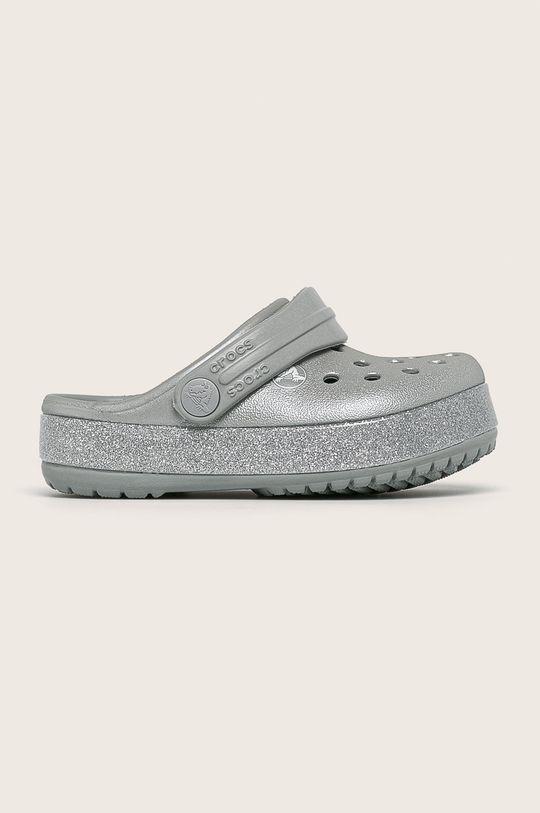 сребърен Crocs - Детски чехли Момиче