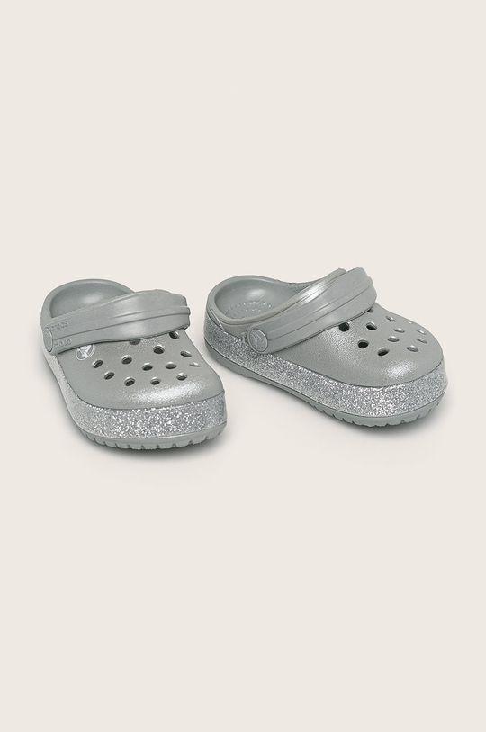 Crocs - Детски чехли сребърен