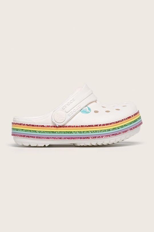 бял Crocs - Детски чехли Момиче