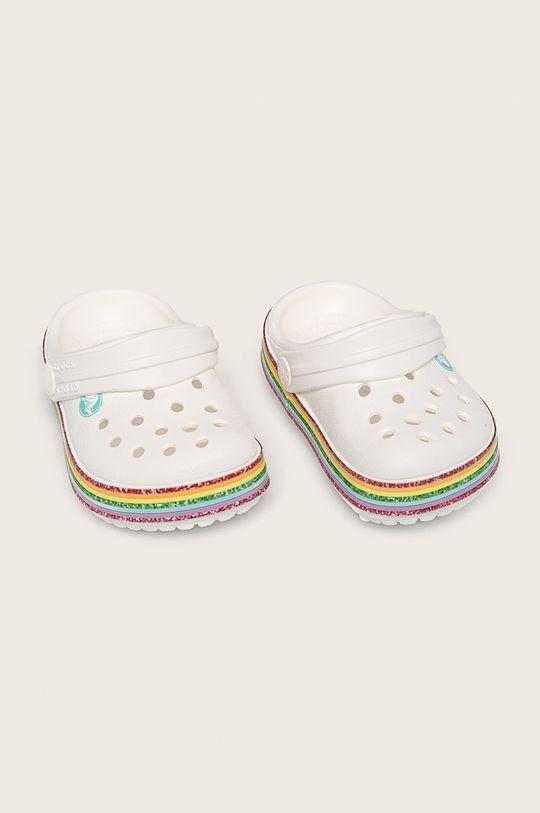 Crocs - Детски чехли бял