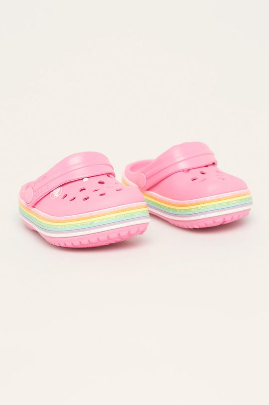 Crocs - Детски чехли наситенорозов