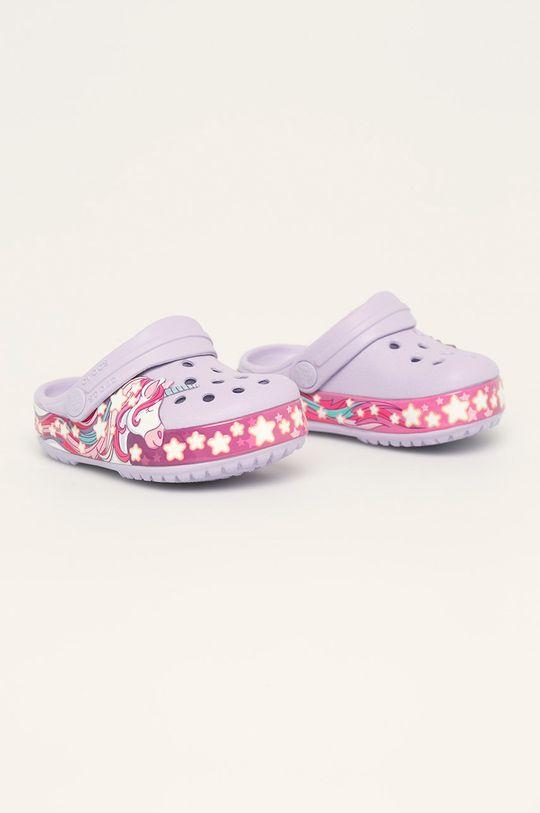 Crocs - Dětské pantofle levandulová