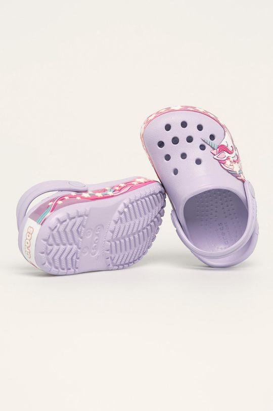 levandulová Crocs - Dětské pantofle