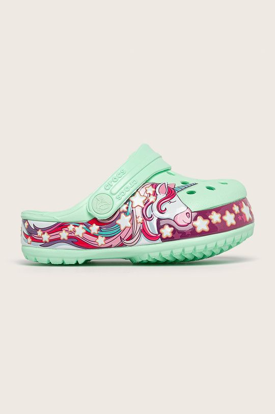 светлозелен Crocs - Детски чехли Момиче