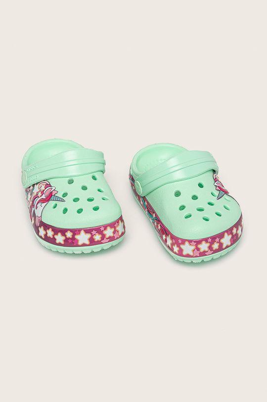 Crocs - Детски чехли светлозелен