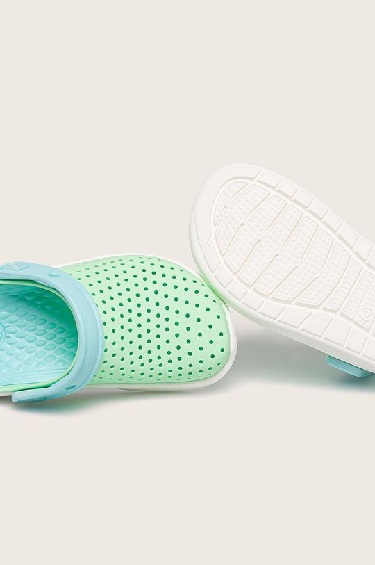 svetlozelená Crocs - Kožené šľapky