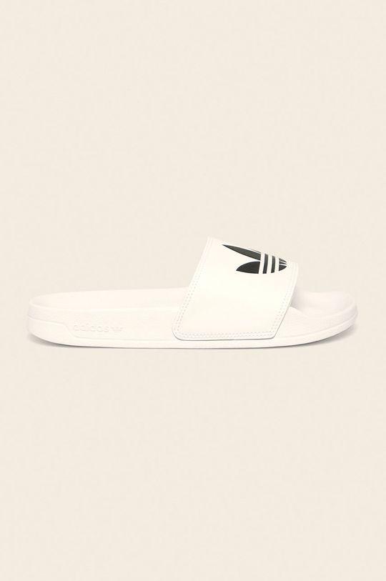 bílá adidas Originals - Pantofle Adilette Pánský