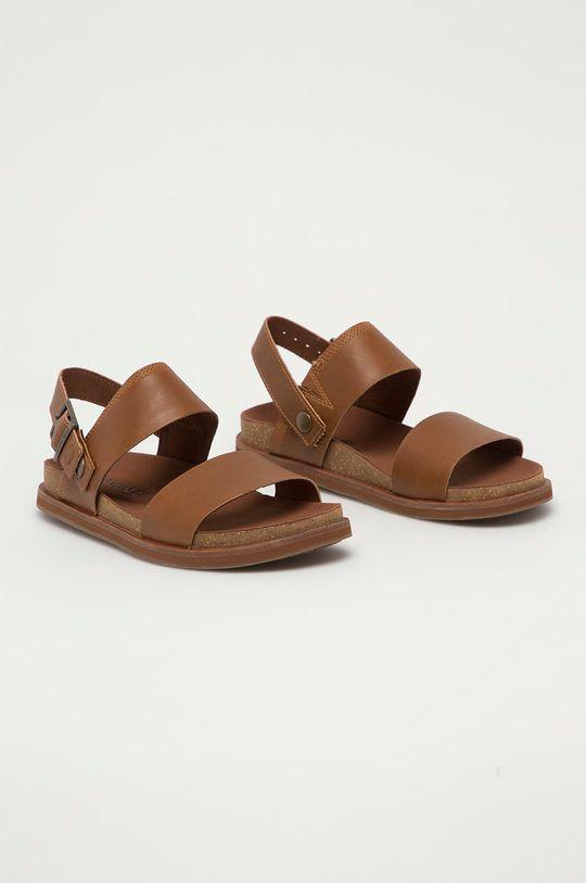 Timberland - Sandały skórzane Amlfi Vibes brązowy