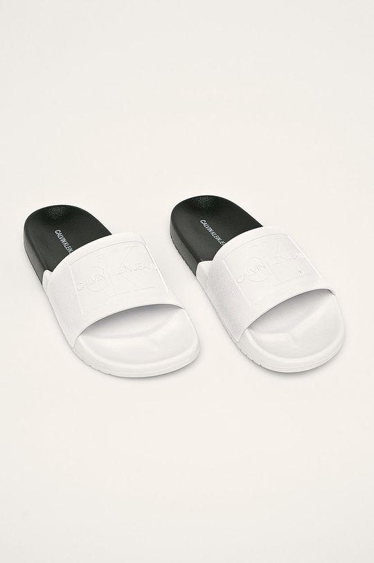 Calvin Klein Jeans - Šľapky biela