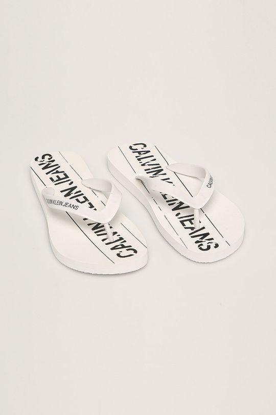Calvin Klein Jeans - Žabky biela