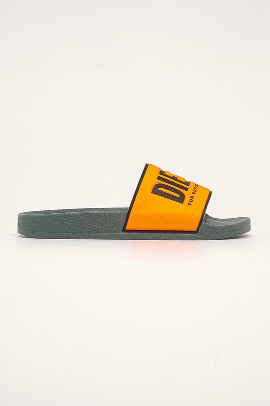 oranžová Diesel - Pantofle Pánský