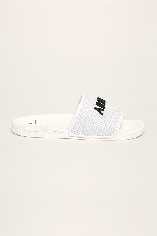 bílá Armani Exchange - Pantofle Pánský