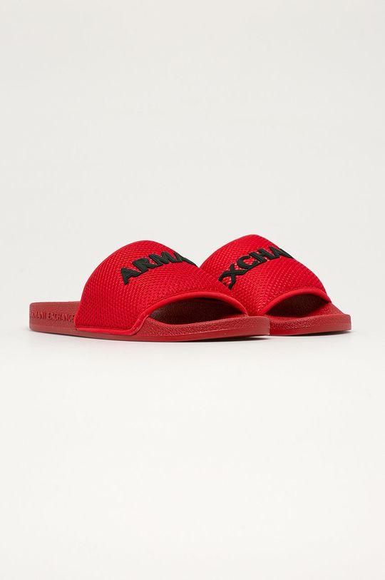 Armani Exchange - Šľapky červená