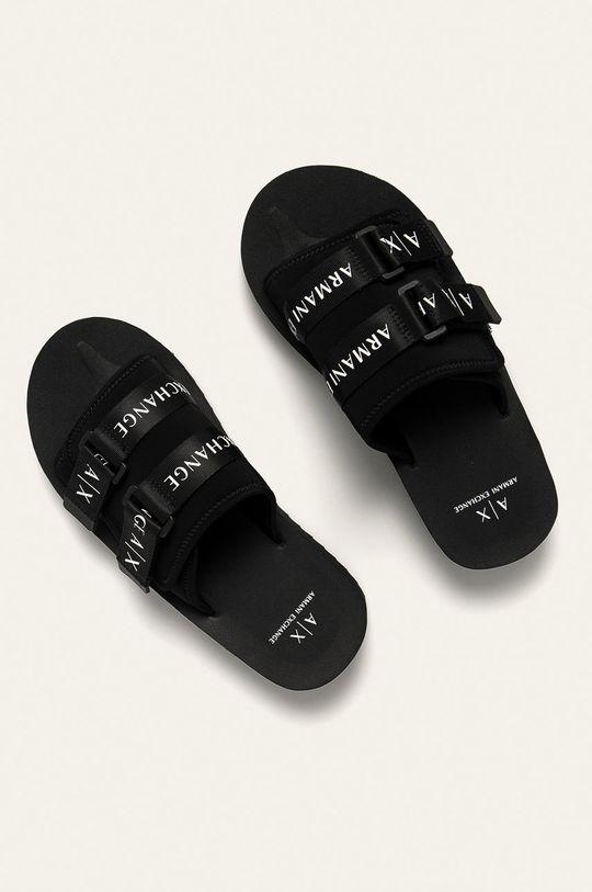Armani Exchange - Pantofle černá