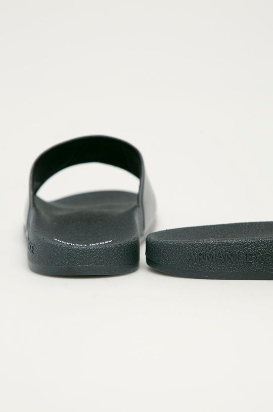 Armani Exchange - Klapki Cholewka: Materiał syntetyczny, Wnętrze: Materiał syntetyczny, Materiał tekstylny, Podeszwa: Materiał syntetyczny