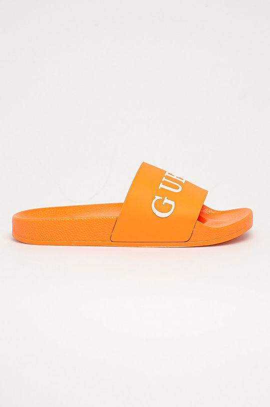 oranžová Guess Jeans - Šľapky Pánsky