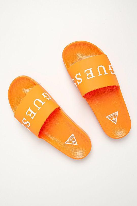 Guess Jeans - Šľapky oranžová
