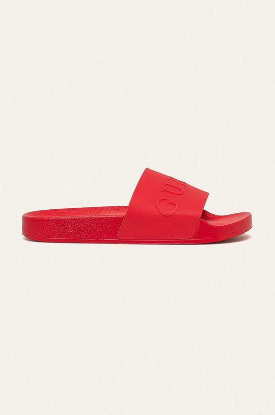 červená Guess Jeans - Pantofle Pánský