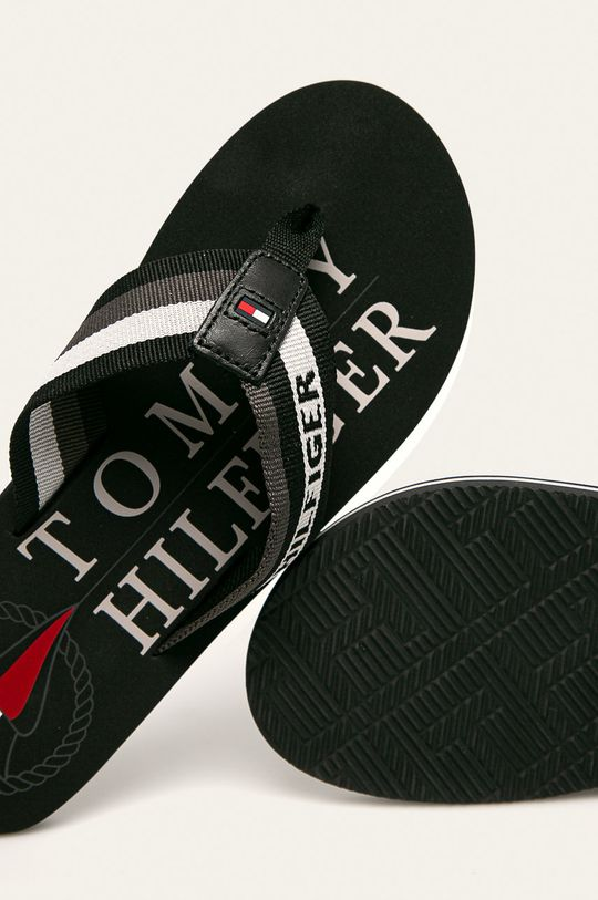 čierna Tommy Hilfiger - Žabky
