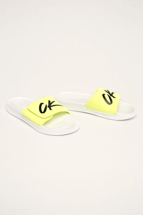 Calvin Klein Underwear - Šľapky žltá