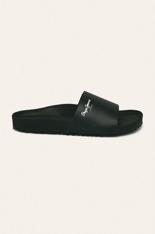 negru Pepe Jeans - Slapi de piele Ultra Bio Basic De bărbați