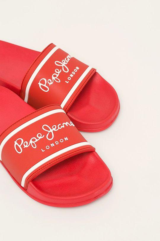 Pepe Jeans - Šľapky Slider Basic červená