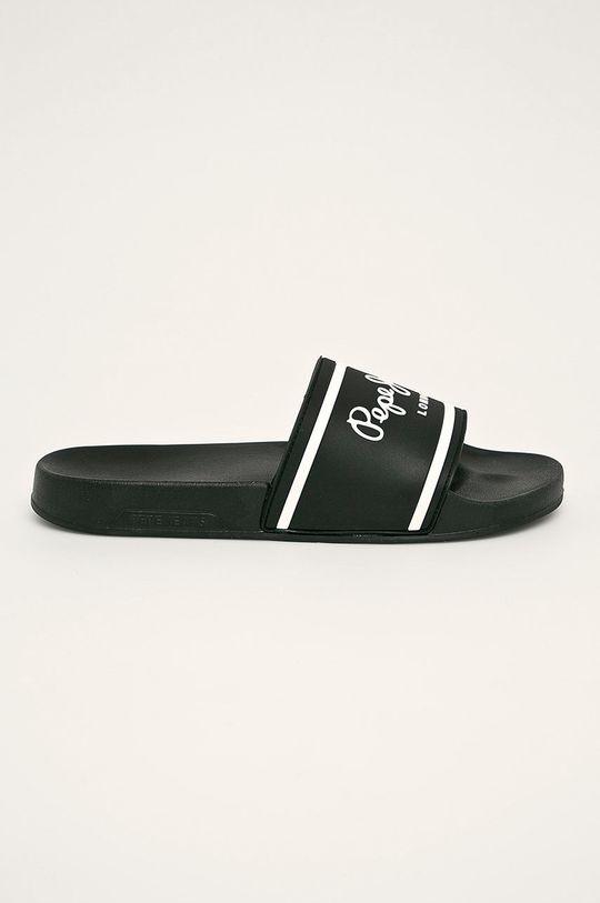 čierna Pepe Jeans - Šľapky Slider Basic Pánsky