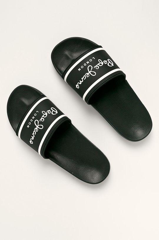 Pepe Jeans - Šľapky Slider Basic čierna