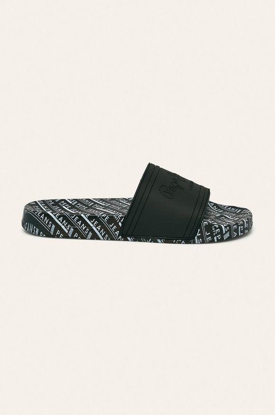 čierna Pepe Jeans - Šľapky Slider All Over Pánsky