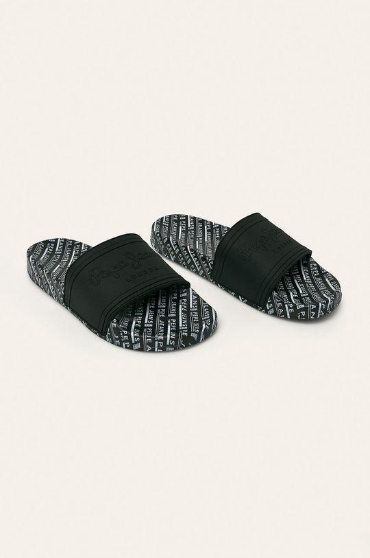 Pepe Jeans - Šľapky Slider All Over čierna