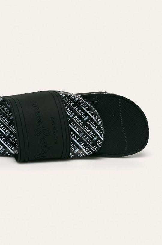 čierna Pepe Jeans - Šľapky Slider All Over