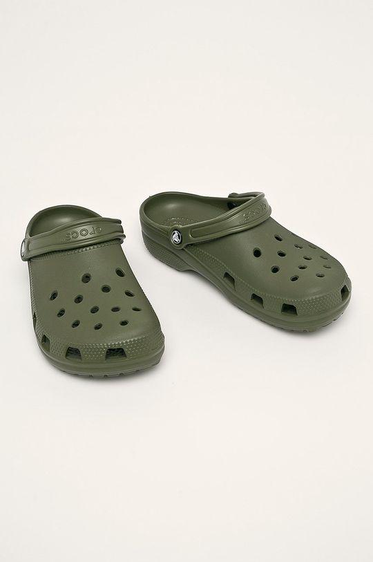 Crocs - Klapki oliwkowy