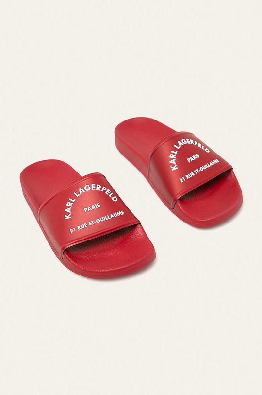 Karl Lagerfeld - Šlapky červená