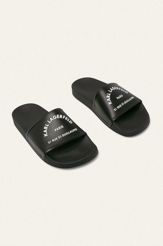 Karl Lagerfeld - Šlapky čierna